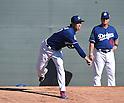 (L-R) Kenta Maeda, Rick Honeycutt (Dodgers),<br /> FEBRUARY 21, 2016 - MLB :<br /> Los Angeles Dodgers spring training baseball camp in Glendale, Arizona, United States. (Photo by AFLO)