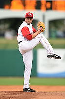 Arkansas Travelers pitcher Michael Roth (15) delivers a pitch during a game against the San Antonio Missions on May 24, 2014 at Dickey-Stephens Park in Little Rock, Arkansas.  Arkansas defeated San Antonio 4-2.  (Mike Janes/Four Seam Images)