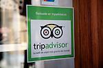 Trip Advisor glass window sticker, Granada, Spain