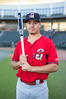 Springfield Cardinals infielder Evan Mendoza (4) poses for a photo on May 16, 2019, at Arvest Ballpark in Springdale, Arkansas. (Jason Ivester/Four Seam Images)