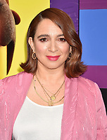 WESTWOOD, CA - FEBRUARY 02: Maya Rudolph attends the Premiere Of Warner Bros. Pictures' 'The Lego Movie 2: The Second Part' at Regency Village Theatre on February 2, 2019 in Westwood, California.<br /> CAP/ROT/TM<br /> &copy;TM/ROT/Capital Pictures