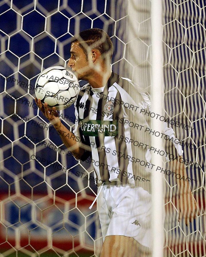 fudbal.PARTIZAN-VOJVODINA.delibasic andrija.BGD, 27.09.2003..FOTO: SRDJAN STEVANOVIC