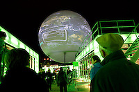 Huge globe part of exhibitions in Copenhagen. United Nations Climate Change Conference (COP15) was held at Bella Center in Copenhagen from the 7th to the 18th of December, 2009. A great deal of groups tried to voice their opinion and promote their cause in various ways. The conference and demonstrations was covered by thousands of photographers and journalists from all over the world...©Fredrik Naumann/Felix Features.