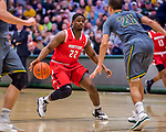 18 February 2018: Hartford University Hawk Guard TravisWeatherington, a Junior from Palm Beach, FL, in action against the University of Vermont Catamounts at Patrick Gymnasium in Burlington, Vermont. The Catamounts fell to the Hawks 69-68 in their America East Conference matchup. Mandatory Credit: Ed Wolfstein Photo *** RAW (NEF) Image File Available ***