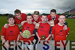 SOCCER: The Camp u18 youth club indoor soccer team who won the Munster Championship last weekend. Front l-r: Eoghan Finn, James Hickson, Aidan Crean and Eoghan O'Neill. Back l-r: Miche?al O'Driscoll, Cormac O'Brien and Kieran O'Sullivan.   Copyright Kerry's Eye 2008