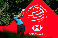 Patrick Cantaly (USA) on the 9th tee during the final round at the WGC HSBC Champions 2018, Sheshan Golf CLub, Shanghai, China. 28/10/2018.<br /> Picture Fran Caffrey / Golffile.ie<br /> <br /> All photo usage must carry mandatory copyright credit (&copy; Golffile | Fran Caffrey)