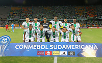 MEDELLIN - COLOMBIA, 05-02-2020: Jugadores del Nacional posan para una foto previo al partido entre Atlético Nacional de Colombia y Huracán de Argentina por la primera fase, ida, de la Copa CONMEBOL Sudamericana 2020 jugado en el estadio Atanasio Girardot de la ciudad de Medellín. / Players of Nacional pose to a photo prior match between Atletico Nacional of Colombia and Huracan of Argentina for the first phase as part of Copa CONMEBOL Sudamericana 2020 played at Atanasio Girardot stadium of Medellin city. Photo: VizzorImage / Donaldo Zuluaga / Cont