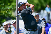 Pat Perez (USA) watches his tee shot on 7 during round 2 of the Dean &amp; Deluca Invitational, at The Colonial, Ft. Worth, Texas, USA. 5/26/2017.<br /> Picture: Golffile | Ken Murray<br /> <br /> <br /> All photo usage must carry mandatory copyright credit (&copy; Golffile | Ken Murray)
