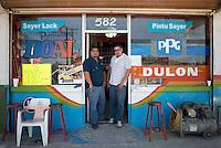 Jorge Sanchez Serrano y Ernesto Martinez Cisneros. Hardware store owners in San Felipe, Baja California Norte,  Mexico.
