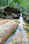 Mt Field Brook Cascades in Bethlehem, New Hampshire USA during the summer months when the water level is low. This area is within the White Mountain National Forest.