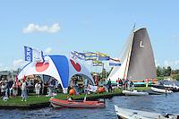 SKÛTSJESILEN: GROU: 18-07-2015, SKS kampioenschap 2015, Lemster skûtsje (Lemmer) tijdens de openingswedstrijd, ©foto Martin de Jong