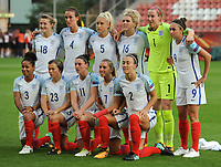 20170719 - UTRECHT , NETHERLANDS : English team pictured during the female soccer game between England and Scotland  , the frist game in group D at the Women's Euro 2017 , European Championship in The Netherlands 2017 , Wednesday 19 th June 2017 at Stadion De Galgenwaard  in Utrecht , The Netherlands PHOTO SPORTPIX.BE | DIRK VUYLSTEKE