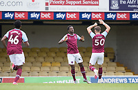 Ademipo Odubeko, West Ham U21's celebrates the opening goal during Southend United vs West Ham United Under-21, EFL Trophy Football at Roots Hall on 8th September 2020