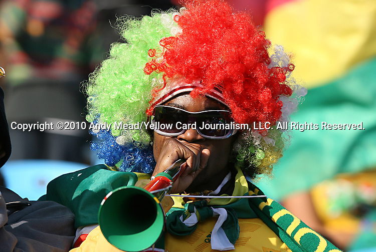 13 JUN 2010:  Ghana fan in the stands.  The Serbia National Team played the Ghana National Team at Loftus Versfeld Stadium in Tshwane/Pretoria, South Africa in a 2010 FIFA World Cup Group D match.