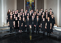 The Occidental College Glee Club, photographed April 16, 2019 in Herrick Chapel, and led by Désirée La Vertu, Director of Choral and Vocal Activities and NTT Associate Professor of Music.<br /> (Photo by Marc Campos, Occidental College Photographer)