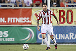05 June 2012: Chivas USA's Danny Califf. The Carolina RailHawks (NASL) lost 1-2 to Club Deportivo Chivas USA (MLS) at WakeMed Soccer Stadium in Cary, NC in a 2012 Lamar Hunt U.S. Open Cup fourth round game.