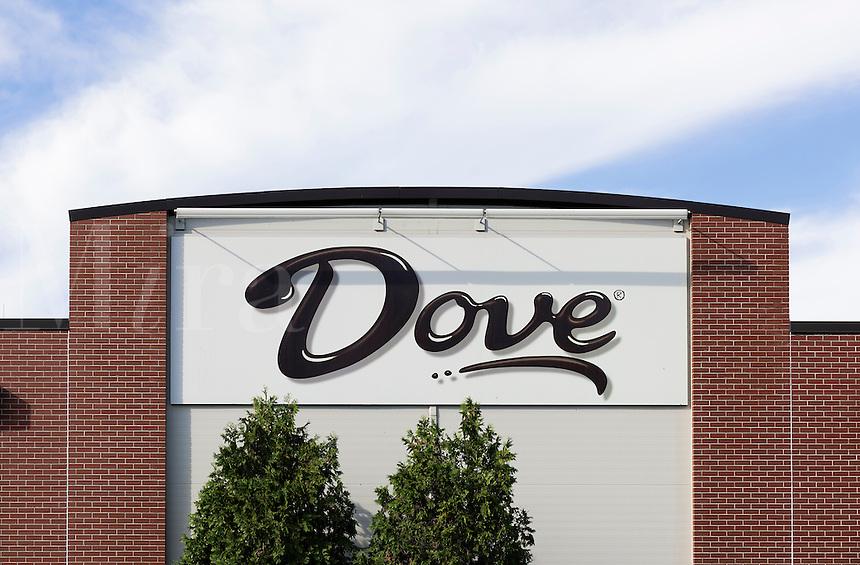 Dove Chocolate plant, Elizabethtown, Pennsylvania. Dove is a division of Mars Inc..