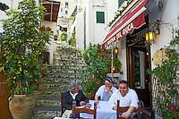 Outdoor cafe, Amalfi Italy