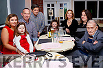 50th Birthday Celebrations, John Sheehan. Casa Mia&rsquo;s Restaurant, Listowel. Saturday 15th December 2018<br /> From Left; Rebecca Ryan with her daughters Shaunagh &amp; Katie, John Sheehan, Robert Murray, Norma Sheehan, Margaret Sheehan and Jimmy Dalton.