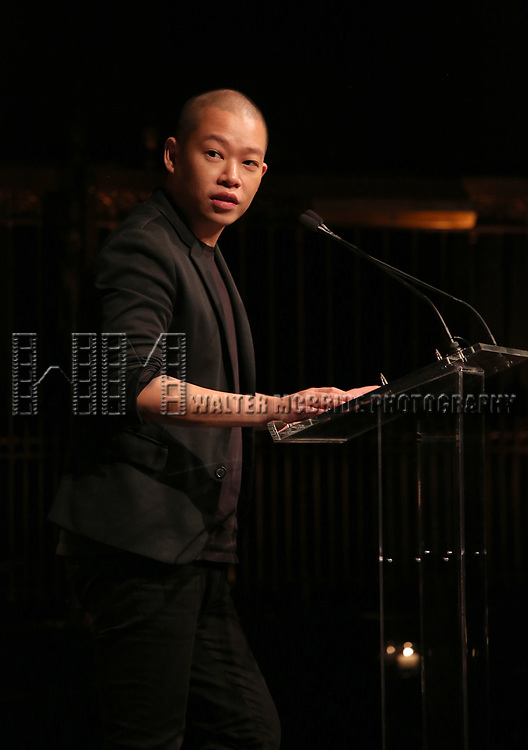Jason Wu on stage at the  2017 Dramatists Guild Foundation Gala presentation at Gotham Hall on November 6, 2017 in New York City.