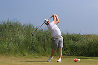 Caolan Rafferty (Dundalk) on the 3rd tee during Round 4 of the East of Ireland Amateur Open Championship 2018 at Co. Louth Golf Club, Baltray, Co. Louth on Monday 4th June 2018.<br /> Picture:  Thos Caffrey / Golffile<br /> <br /> All photo usage must carry mandatory copyright credit (&copy; Golffile | Thos Caffrey)
