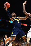 SAN ANTONIO, TX - APRIL 02: Zavier Simpson #3 of the Michigan Wolverines shoots the ball against the Villanova Wildcats during the second half  in the 2018 NCAA Men's Final Four National Championship game at the Alamodome on April 2, 2018 in San Antonio, Texas.  (Photo by Brett Wilhelm/NCAA Photos via Getty Images)