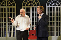 London, UK. 17.11.2015. THE DIVIDED LAING, by Patrick Marmion, directed by Michael Kingsbury, opens at the Arcola. Picture shows: Kevin McMonagle (Aaron Esterson), Alan Cox (R. D. Laing). Photograph © Jane Hobson.