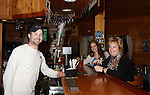 Bartender, assistant to Alex and Liz Byrne filming An Adirondack Affair - a weekend with Saturday  Oct. 1 was all access with Filming on Location in Long Lake, New York at at Quackenbush Wilderness Lodge in Long Lake and other locations in and around Long Lake.  (Photo by Sue Coflin/Max Photos)