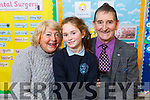 Lexi O'Connor from Ballyseedy, Tralee with her grandparents Ann and Joe O'Connor at the Grandparent day in O'Breannain NS on Tuesday.