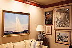 Sailing artwork in a sitting room in Ted Turner's building in downtown Atlanta October 23, 2013.