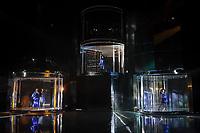 """Sao Paulo (SP), 03/03/2020 - Donna Summer Musical - Passagem de cena e coletiva de imprensa de """"Donna Summer Musical"""", que aconteceu na tarde desta terca-feira (03), no Teatro Santander, zona sul da capital. Como protagonistas as atrizes Jeniffer Nascimento, que interpreta a diva no auge da carreira (Disco Donna),  Karin Hils como Diva Donna e Amanda Souza, que vivera a Jovem Donna e com direcao geral de Miguel Falabella, o espetaculo estreia dia 05 de marco. (Foto: Ale Frata/Codigo 19/Codigo 19)"""