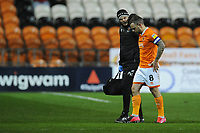 Blackpool's Jay Spearing walks off after receiving treatment<br /> <br /> Photographer Kevin Barnes/CameraSport<br /> <br /> The EFL Sky Bet League One - Blackpool v Gillingham - Tuesday 11th February 2020 - Bloomfield Road - Blackpool<br /> <br /> World Copyright © 2020 CameraSport. All rights reserved. 43 Linden Ave. Countesthorpe. Leicester. England. LE8 5PG - Tel: +44 (0) 116 277 4147 - admin@camerasport.com - www.camerasport.com