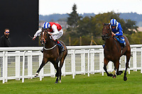 Winner of The Simpson Hilder Associates Supporting Gift Of Sight EBF Fillies' Novice StakesStar in the Making ridden by Adam Kirby and trained by Clive Cox during Evening Racing at Salisbury Racecourse on 3rd September 2019