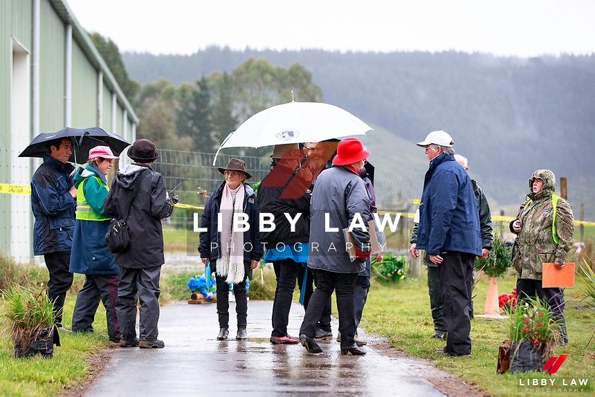 The Ground Jury get ready for the 1st Horse Inspection at the 2017 NZL-NRM National Three Day Event Championships. National Equestrian Center, Taupo. Thursday 11 May. Copyright Photo: Libby Law Photography