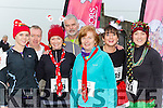 Debra Daly, Donie Sullivan, Kathleen O'Donoghue, Tom Browne, Eileen Breen, Katie O'Sullivan and Finnolla Halpin at the Killorglin Jingle Run on Saturday morning