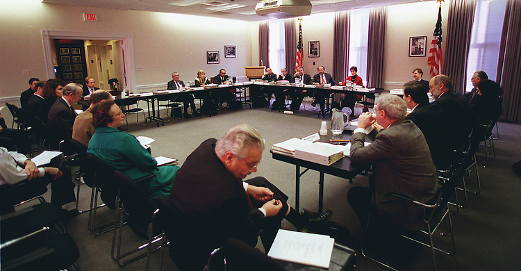12/13/97.CAPITAL BUDGET COMMISSION-- The Capital Budget Commission  meeting..CONGRESSIONAL QUARTERLY PHOTO BY DOUGLAS GRAHAM