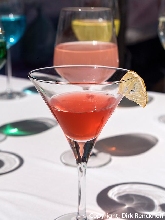 Farbige Cocktails in Seoul, Südkorea, Asien