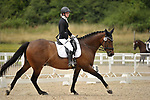 Stapleford Abbotts. United Kingdom. 04 August 2019. Class 5. British dressage. Brook Farm training centre. UK.~ 04/08/2019.  MANDATORY Credit Garry Bowden/Sport in Pictures - NO UNAUTHORISED USE - 07837 394578