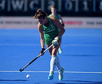 Ireland's Deirdre Duke with the ball<br /> <br /> Photographer Hannah Fountain/CameraSport<br /> <br /> Vitality Hockey Women's World Cup - Netherlands v Ireland - Sunday 5th August 2018 - Lee Valley Hockey and Tennis Centre - Stratford<br /> <br /> World Copyright &copy; 2018 CameraSport. All rights reserved. 43 Linden Ave. Countesthorpe. Leicester. England. LE8 5PG - Tel: +44 (0) 116 277 4147 - admin@camerasport.com - www.camerasport.com
