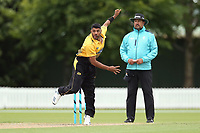 Wellington's Jeetan Patel bowls during the Ford Trophy One Day match (round five) between Wellington Firebirds and Otago Volts at Bert Sutcliffe Oval in Lincoln, New Zealand on Friday, 29 November 2019. Photo: Martin Hunter / lintottphoto.co.nz