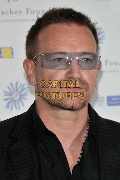 BONO .At the Russia Midsummer Fantasy, in aid of the Raisa Gobachev Foundation,.Stud House, Home Park, Hampton Court, England, UK, 7th June 2008..arrivals portrait headshot clear plastic sunglasses black stubble earrings.CAP/PL.©Phil Loftus/Capital Pictures