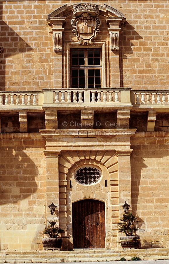 Mellieha, Malta.  Selmun Palace, mid-18th. Century.