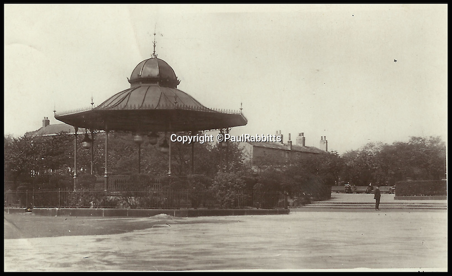 BNPS.co.uk (01202 558833)<br /> Pic: PaulRabbitts/BNPS<br /> <br /> ***Please Use Full Byline***<br /> <br /> The bandstand in Cross Flatts Park, Leeds. Lost, date unknown.<br /> <br /> A landscape gardener is trumpeting the great British creation of the bandstand after touring the country's parks to study the iconic structures for a new book.<br /> <br /> Paul Rabbitts' work is a celebration of the Victorian platforms and a throwback to the halycon days of outdoor music when thousands of people would gather in public parks for a brass band performance.