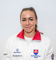 Bratislava, Slovenia, April 21, 2017,  FedCup: Slovakia-Netherlands, Draw ceremony, Kristina Kucova (SVK)<br /> Photo: Tennisimages/Henk Koster