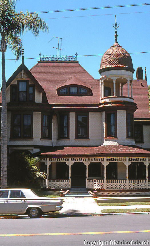 San Diego: Long-Waterman Residence, 1889. Frontal elevation. 2408 1st Ave.