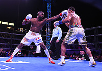 """CARSON, CA- MARCH 9: Shawn Porter vs Yordenis Ugas during the Fox Sports """"PBC on Fox"""" Fight Night at Dignity Health Sports Park on March 9, 2019 in Carson, California. (Photo by Frank Micelotta/Fox Sports/PictureGroup)"""