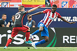 Iker Muniain Goni (L) of Athletic Club  competes for the ball with Thomas Teye Partey (R) of Atletico de Madrid  during their La Liga match between Atletico de Madrid vs Athletic de Bilbao at the Estadio Vicente Calderon on 21 May 2017 in Madrid, Spain. Photo by Diego Gonzalez Souto / Power Sport Images