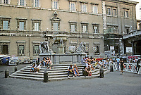 Italy: Rome--Piazza Santa Maria in Trastevere. Fountain remodeled by Bernini, 1659. Photo '83.