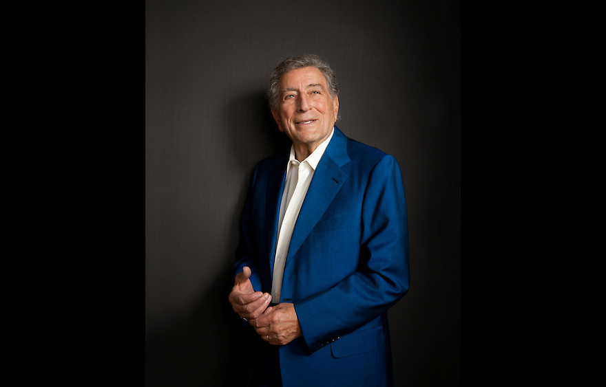 "Singer Tony Bennett photographed in his New York apartment for the Creative Coalition ""It Starts with the Arts"" Project"