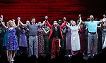 "Katie Rose Clarke, Alistair Brammer, Jon Jon Briones, Eva Noblezada, Nicholas Christopher during The Opening Night Curtain Call Bows for the New Broadway Production of ""Miss Saigon"" at the Broadway Theatre on March 23, 2017 in New York City"